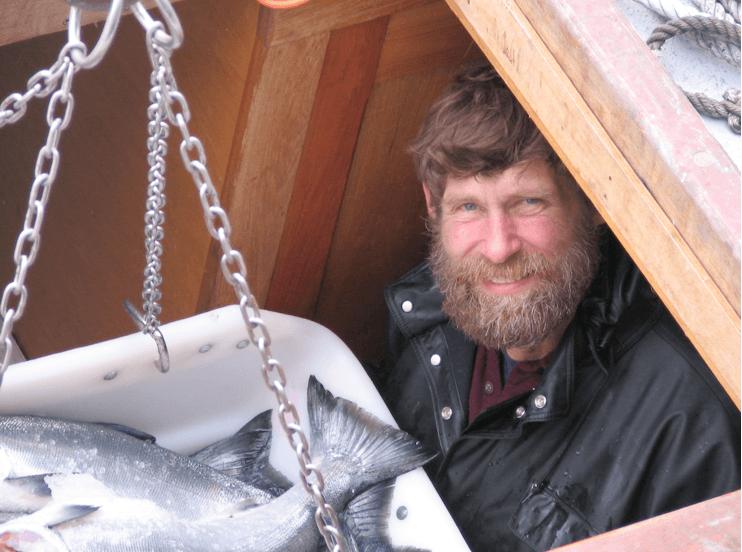 Ein Fischer in Alaska